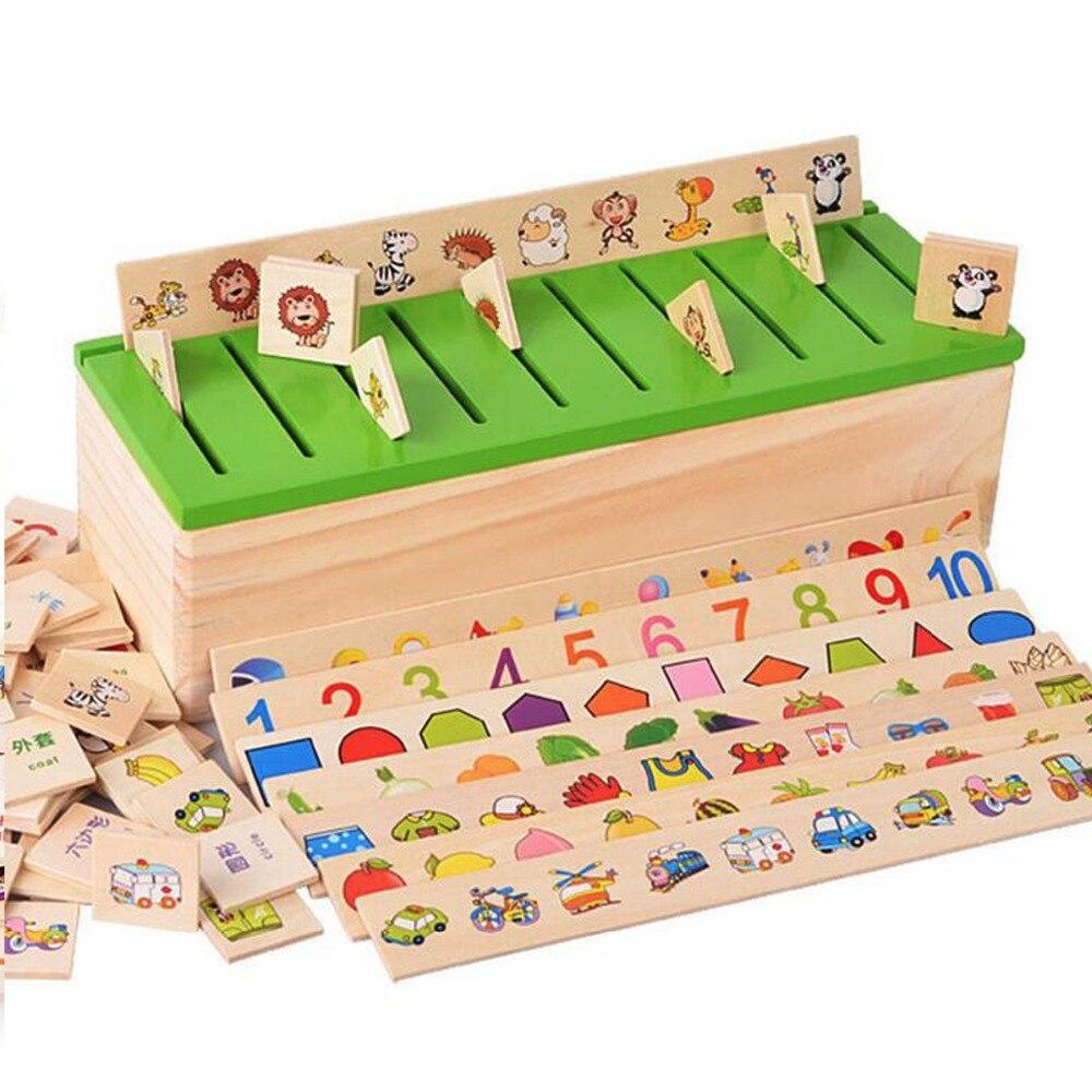 €21.46 |Montessori Matériel Enfants En Bois Jouets Classification Boîte  Forme Style Match Jeux Apprendre Dames Outils|Montessori Materials|Matching serapportantà Boite À Forme Montessori