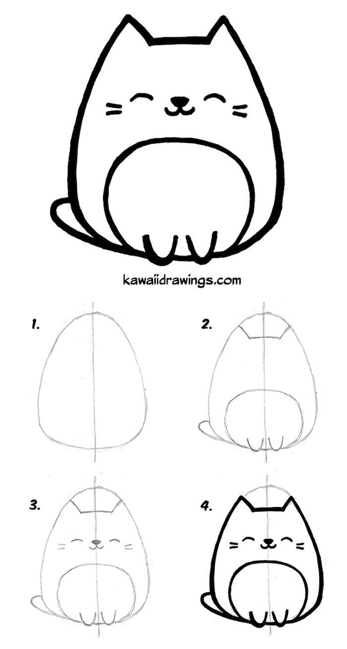 ▷ 1001 + Idées Faciles Pour Faire Un Dessin Kawaii Mignon intérieur Dessin Facile Pour Fille