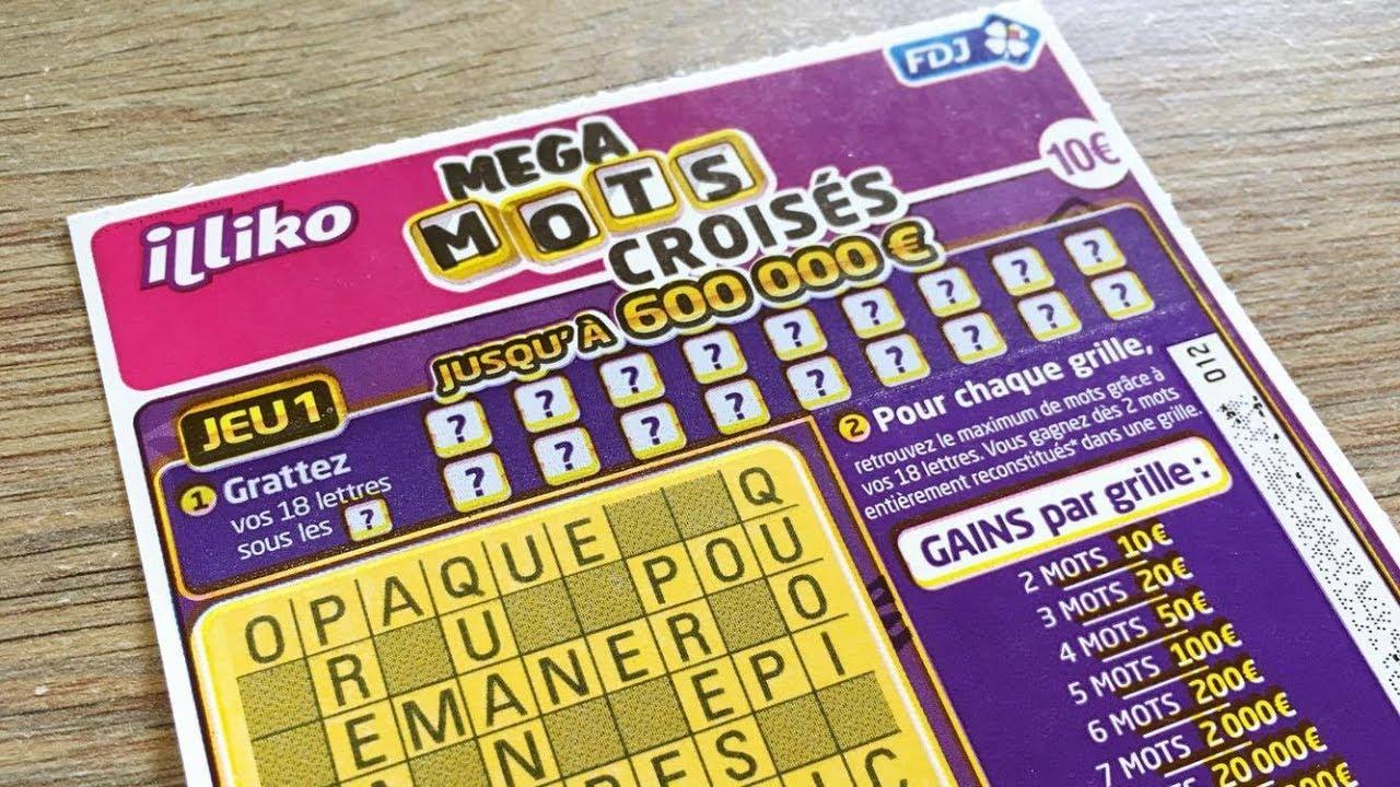❖ Mega Mots Croisés À 10€ 🍀 Grattage De Jeux Tickets À Gratter Illiko Fdj  - Scratchcards dedans Jeux De Mots Fléchés Gratuits