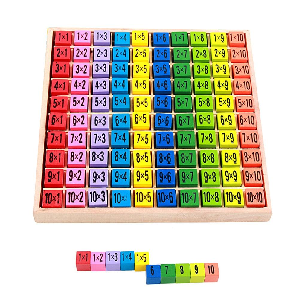 €8.71 41% De Réduction|Montessori Maths Jouet En Bois Numéro Jeu De  Mathématiques 10*10 Table De Multiplication Jouet Éducatif Puzzle Enfants concernant Jeux Educatif Table De Multiplication