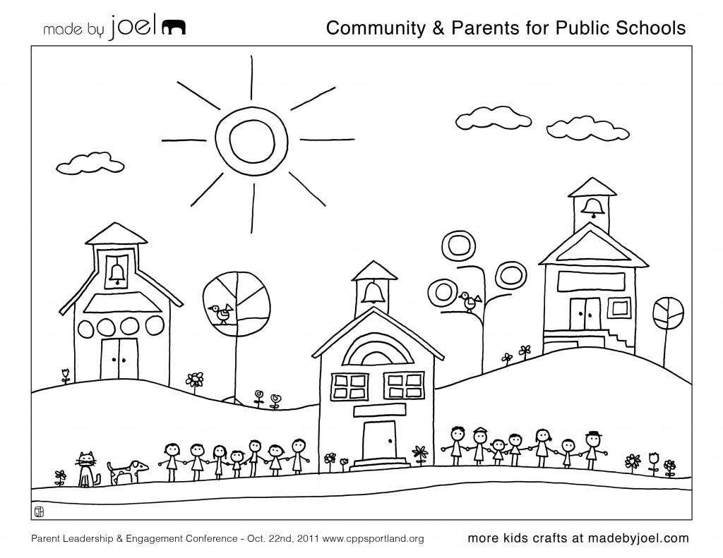 École #12 (Bâtiments Et Architecture) – Coloriages À Imprimer avec Coloriage De Mode À Imprimer
