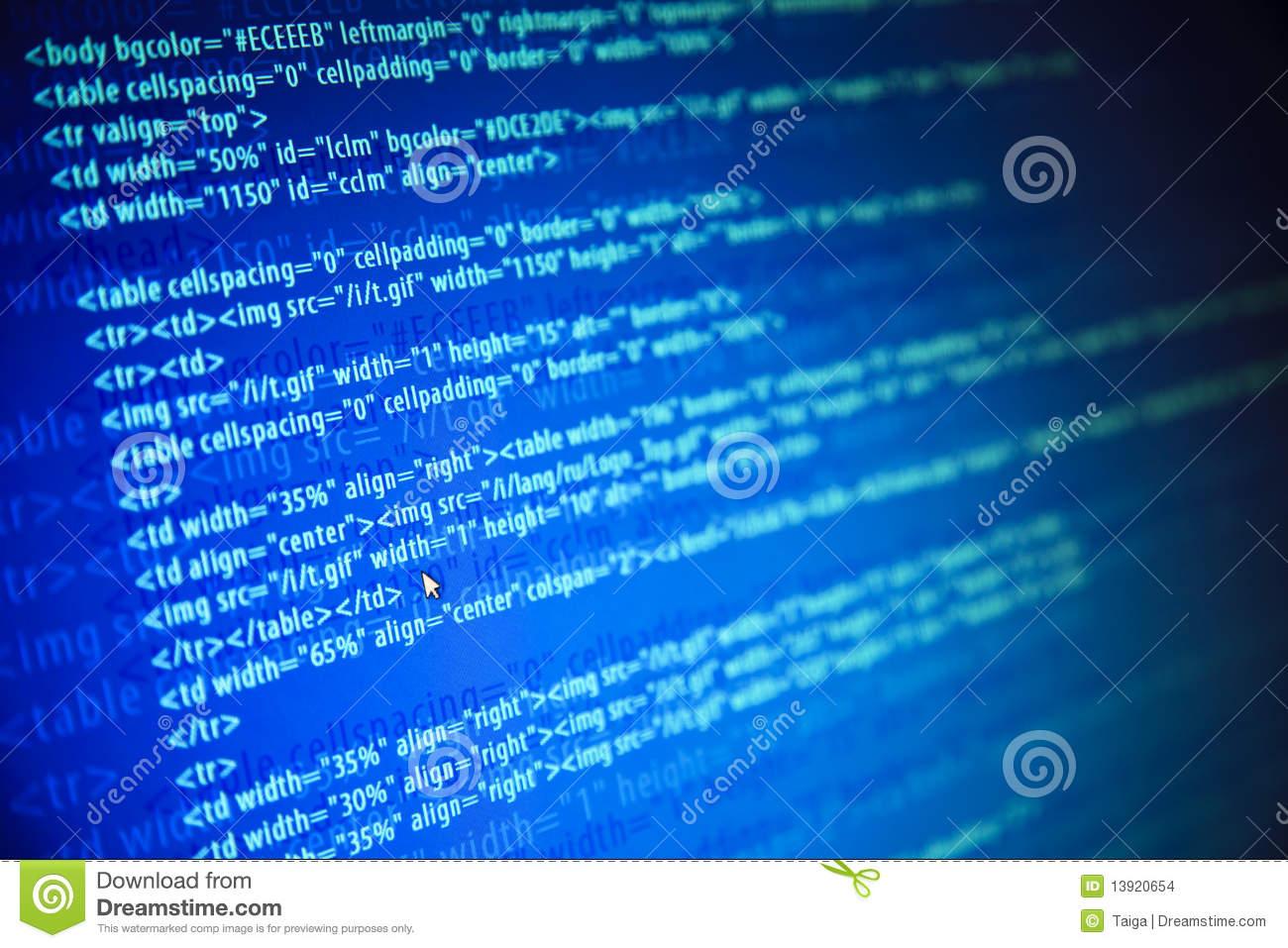 Écrans Avec Le Code Et La Souris De Web De Programme Photo dedans La Souris Du Web