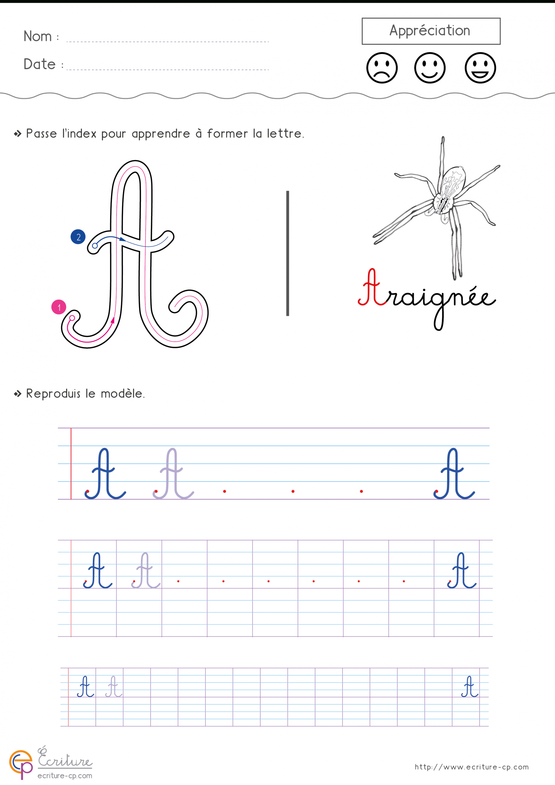 Écrire L'alphabet Majuscule Cursive Cp Ce1   Fiche D dedans Écrire Les Majuscules