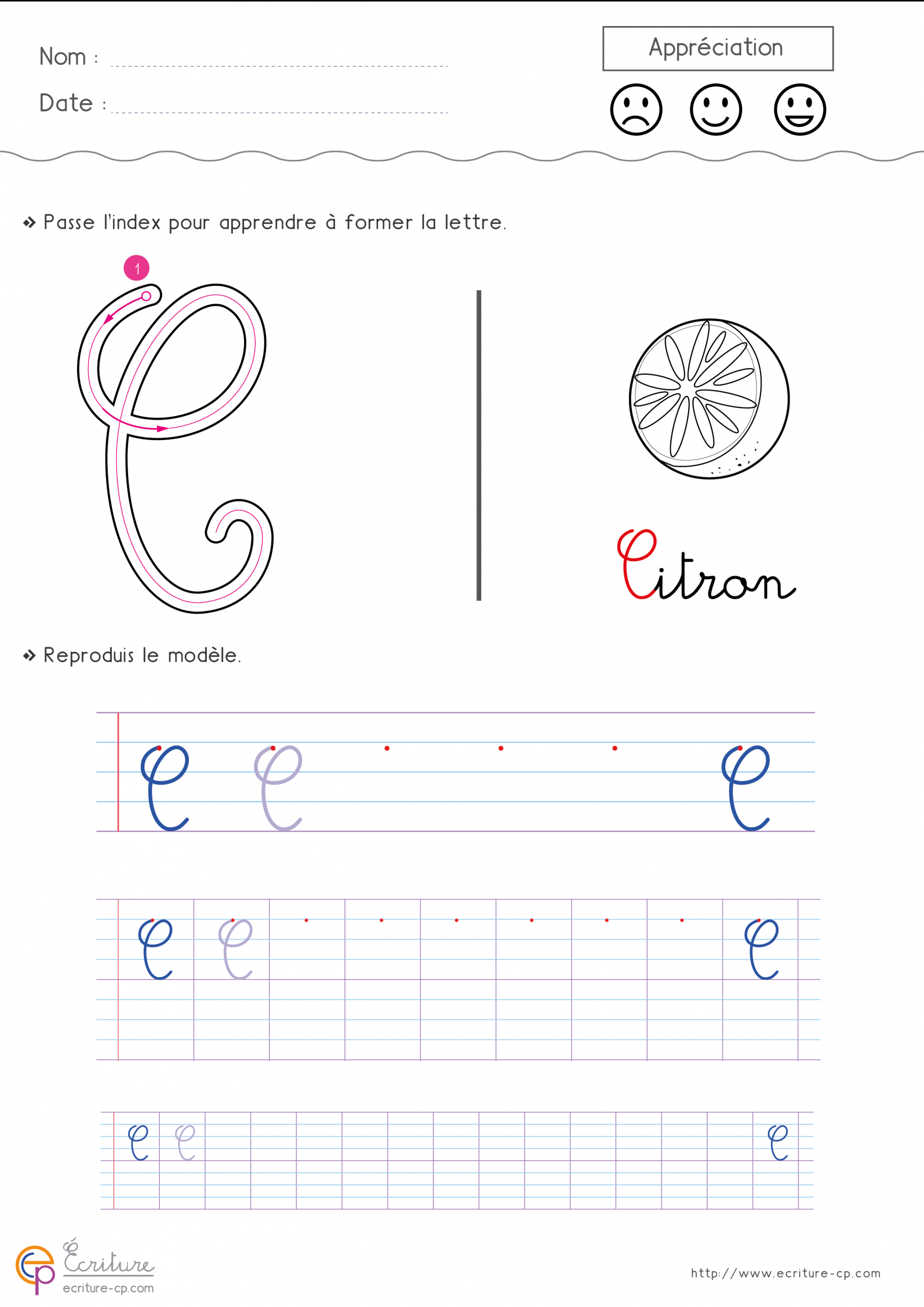 Écrire L'alphabet Majuscule Cursive Cp Ce1   Fiche D intérieur Écrire Les Majuscules