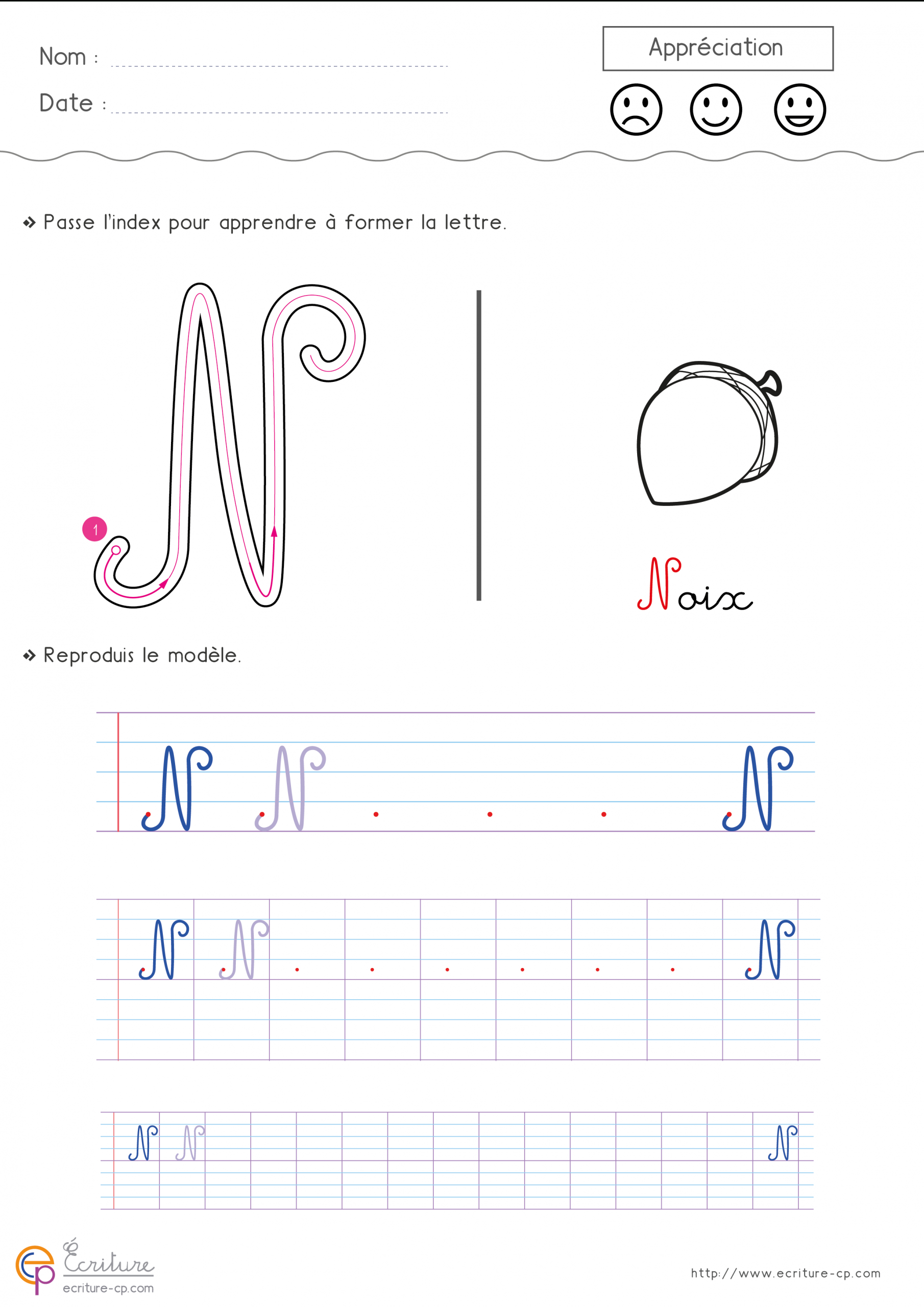 Écrire L'alphabet Majuscule Cursive Cp Ce1 | Fiche D tout Écriture Des Lettres Majuscules