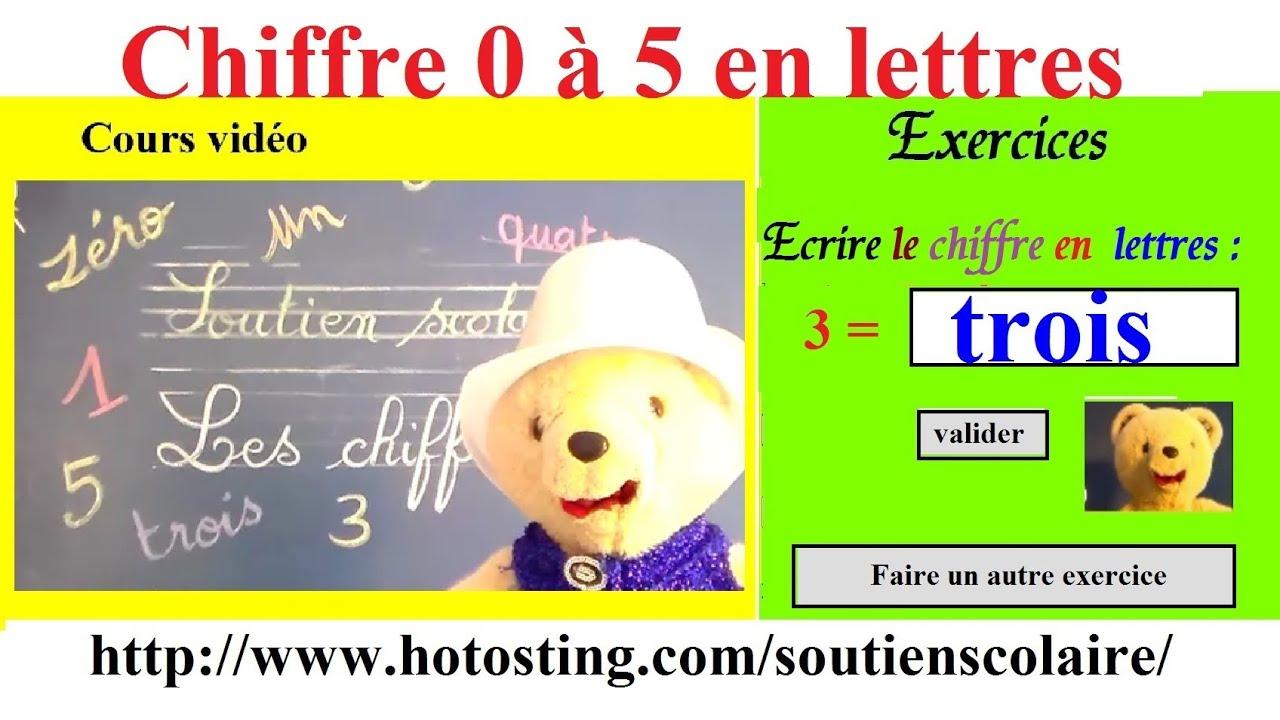 Ecrire Les Chiffres En Lettres : Activités Exercices Maternelle Maths intérieur Apprendre Les Chiffres En Lettres Cp