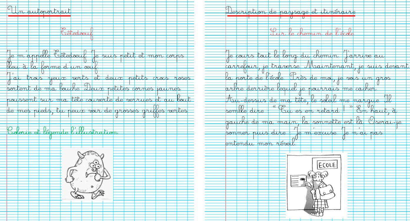Ecriture En Ce2 - La Classe De Mésange encequiconcerne Ecriture Ce2 À Imprimer