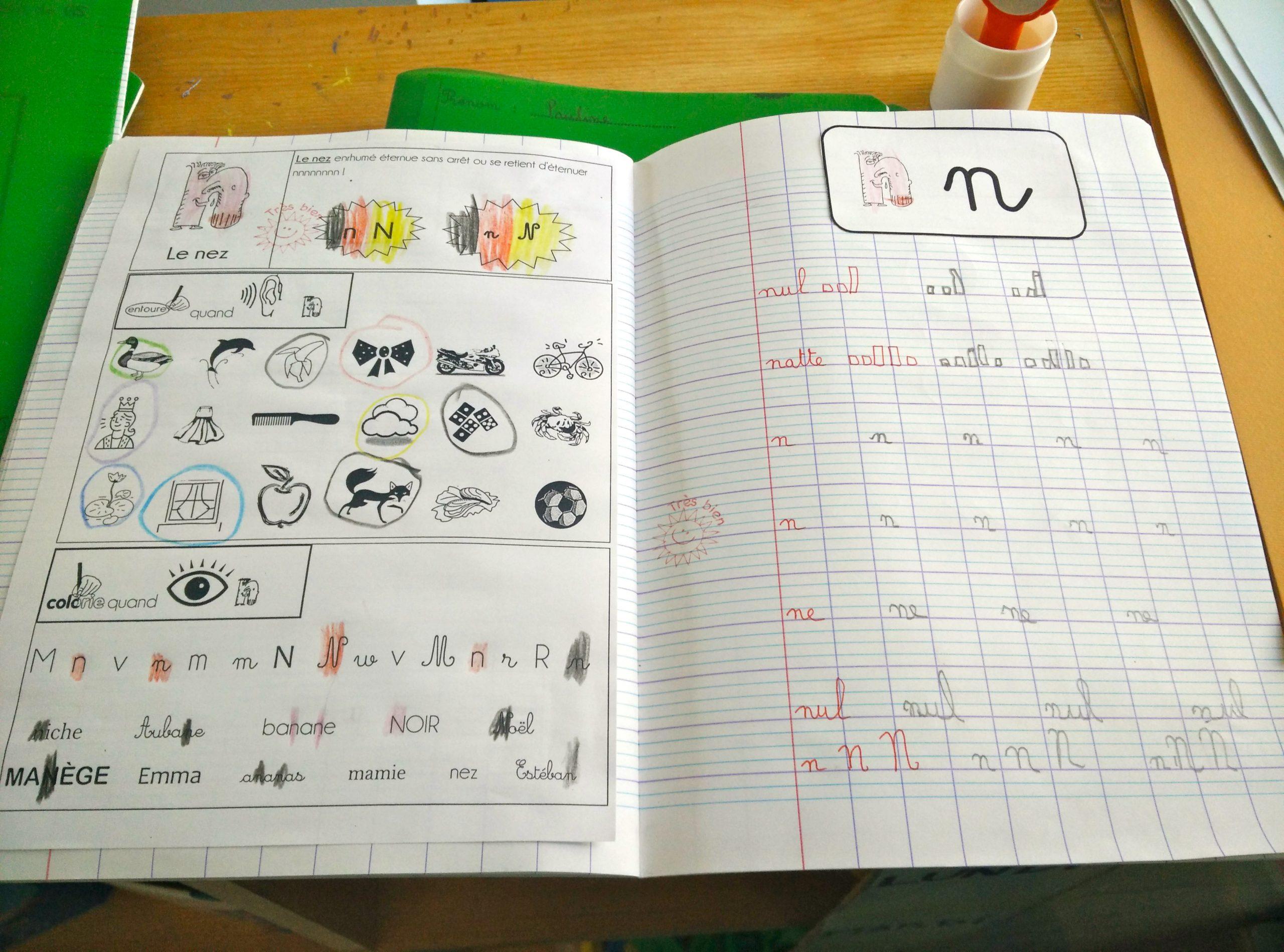 Ecriture En Gs - La Classe De Luccia ! dedans Cahier D Écriture Maternelle