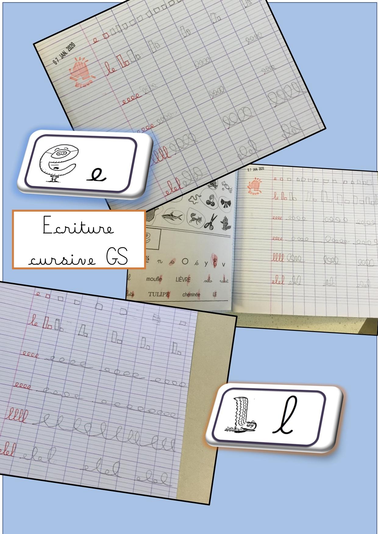 Ecriture En Gs - La Classe De Luccia ! encequiconcerne Ligne Écriture Gs