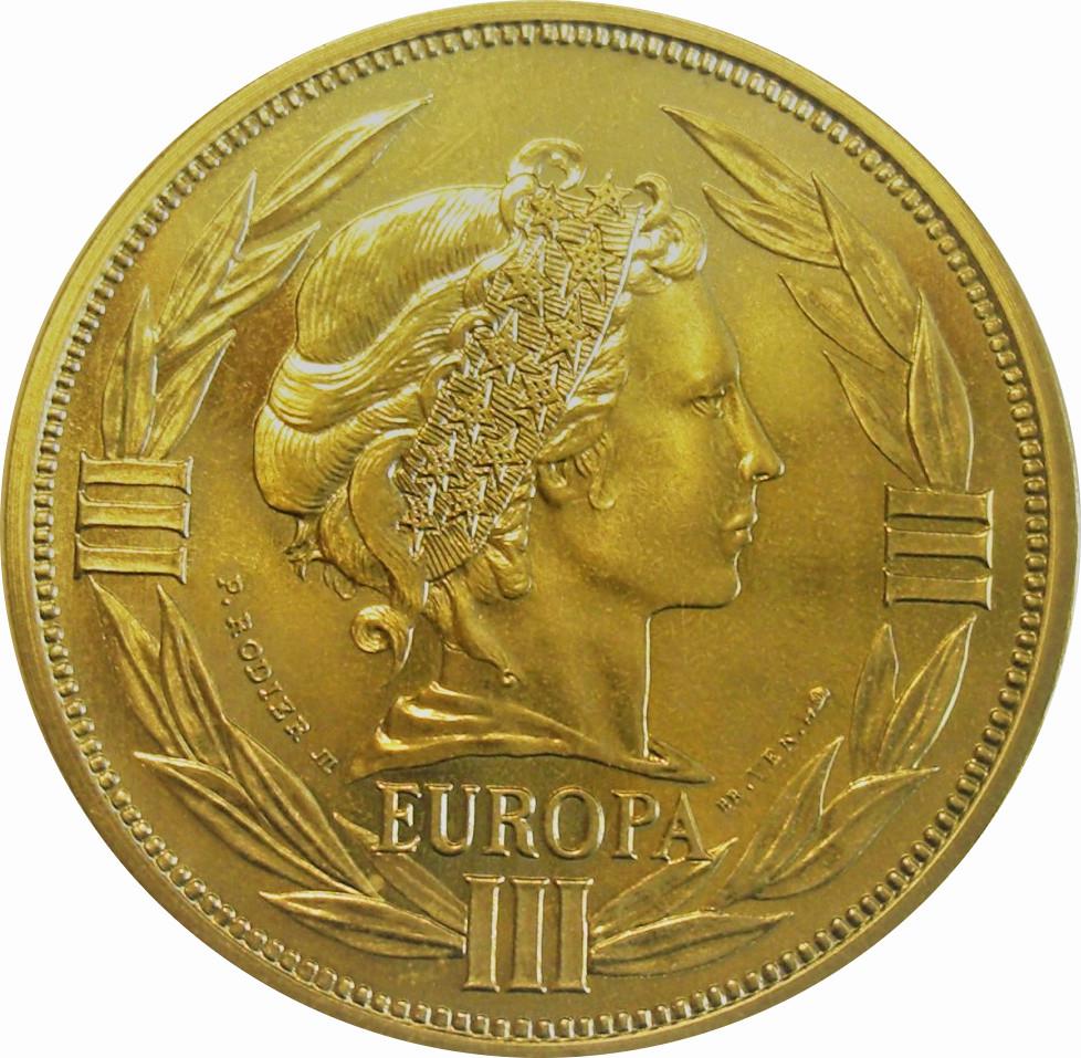 Ecu (Europa; 12 Countries; Bronze Vénitien) - ** Exonumia avec Monnaie Fictive