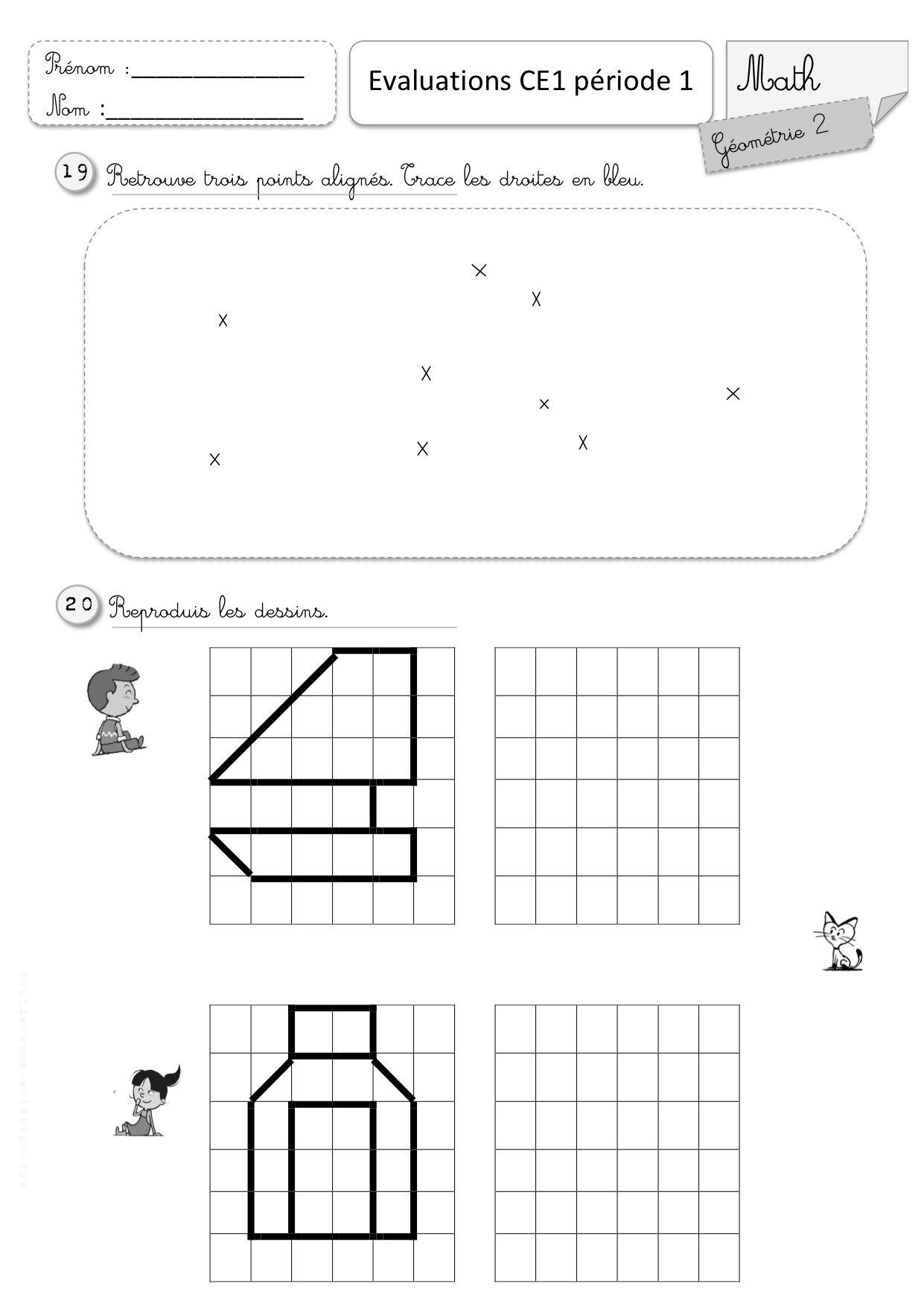 Eecbxm9O2Igmvjq4Sg1Fvhwgbly (1241×1754) | Ce1, Géométrie Ce1 intérieur Exercice Reproduction Sur Quadrillage Ce1