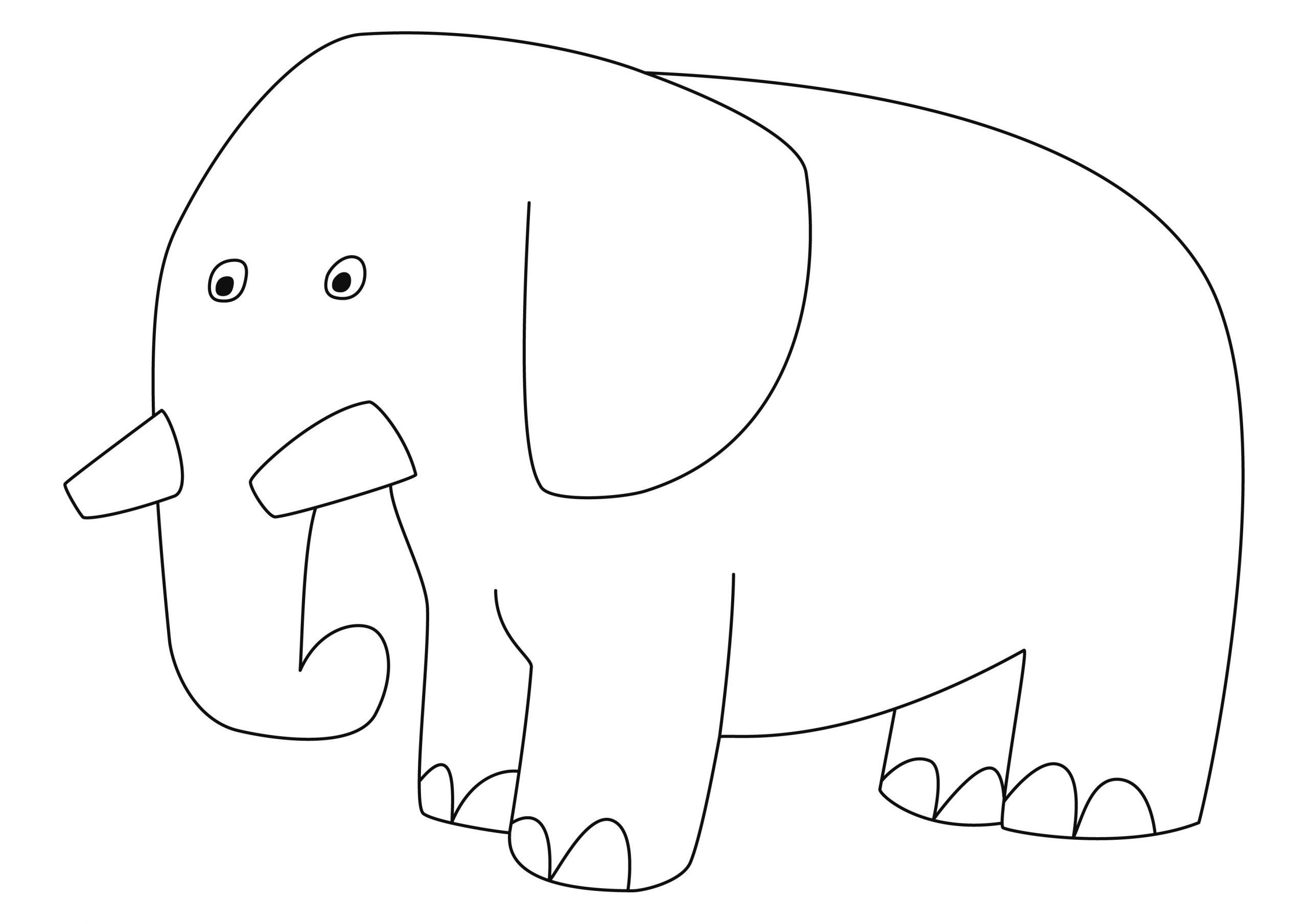Eléphant 12 - Motif À Décorer concernant Silhouette D Animaux À Imprimer