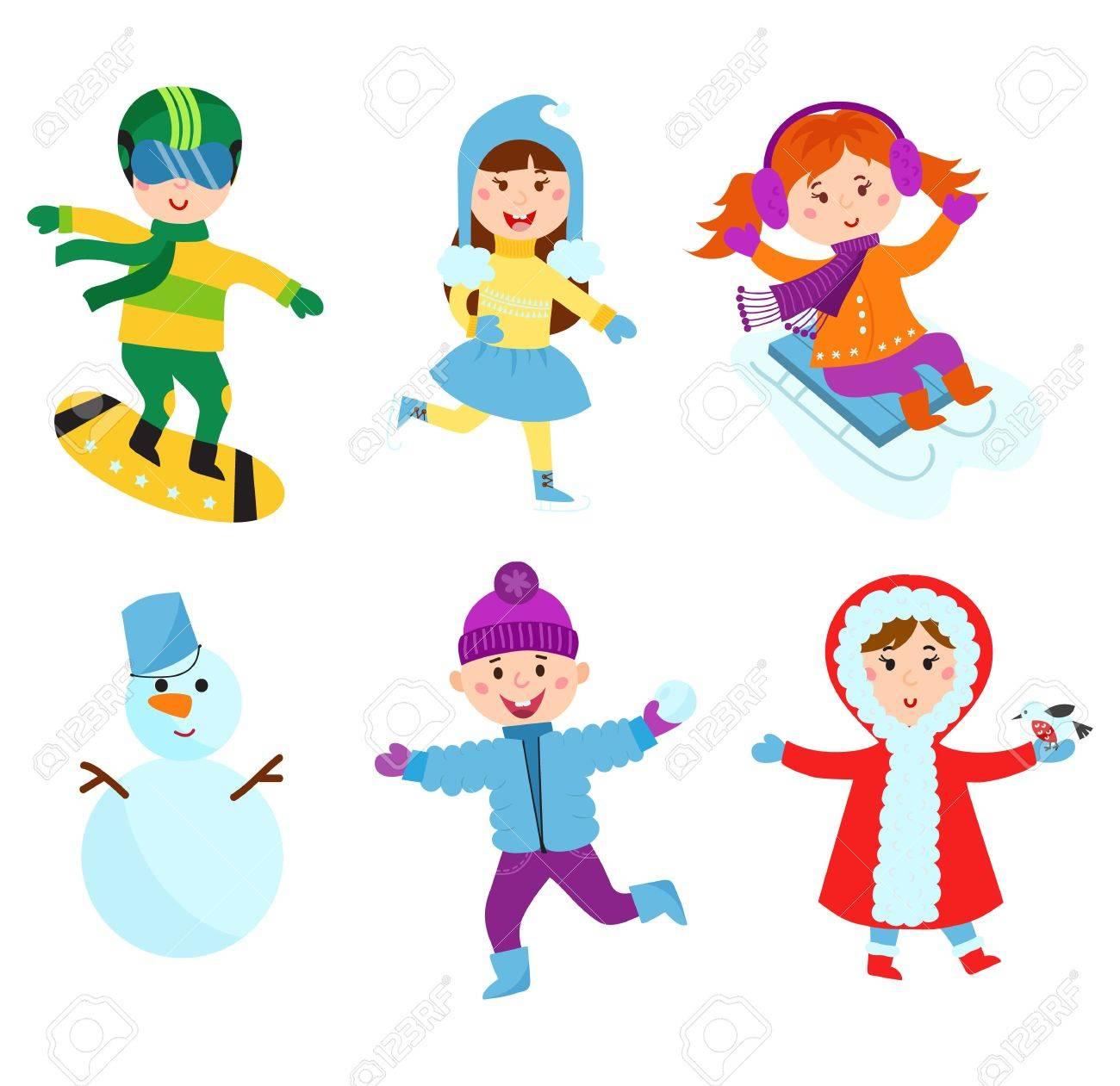 Enfants De Noël Jouer À Des Jeux D'hiver. Luge Robes De Fille Jusqu'à  L'arbre De Noël, La Neige Garçon Fait L'homme, Des Enfants Jouant Des  Boules De destiné Jouer A Des Jeux De Fille