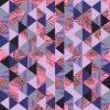 Ensemble Avec Les Feuilles De Palmier Triangle Géométriques destiné Feuille De Couleur A Imprimer Gratuit