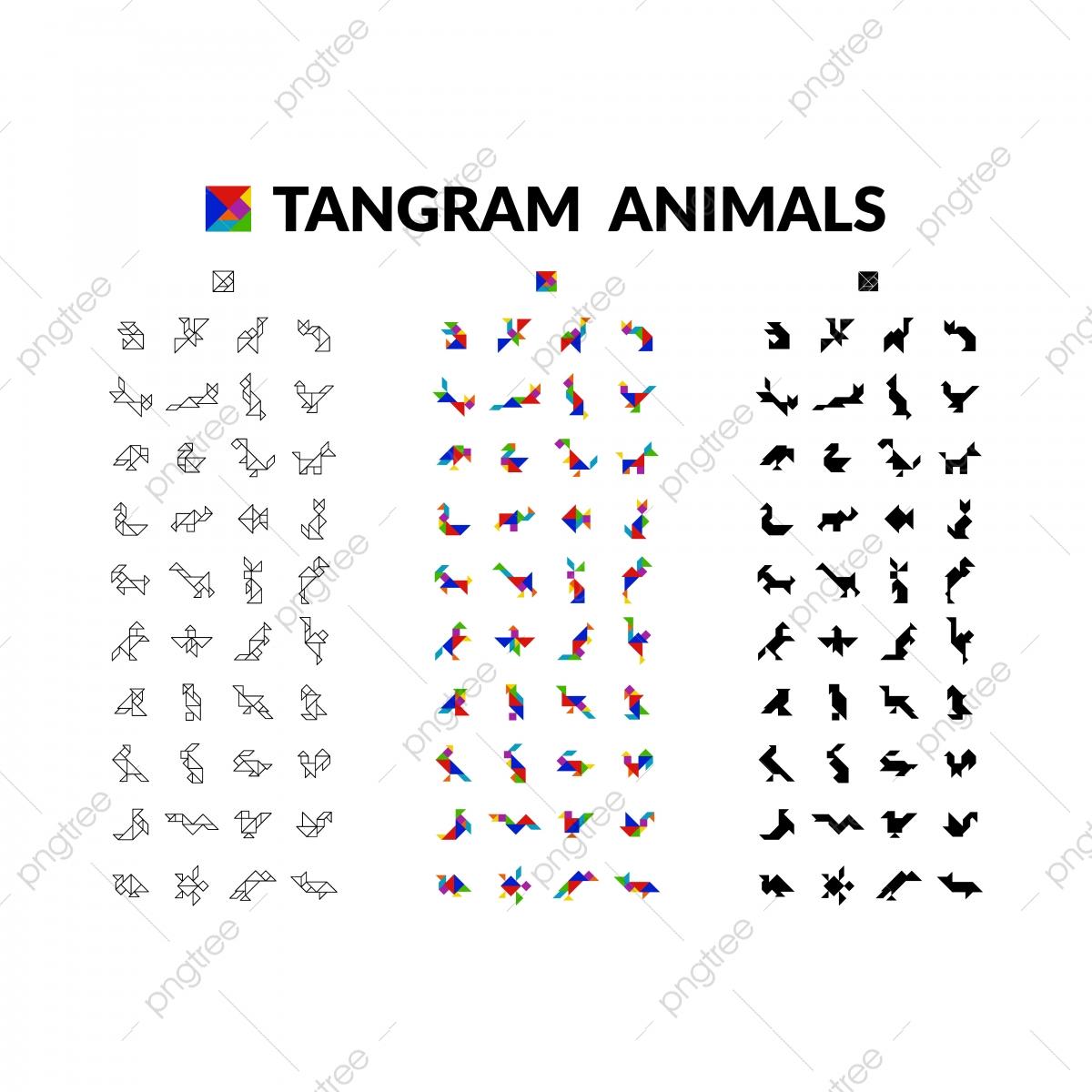 Ensemble De Jeux De Cerveau Animaux Tangram Pour Les Enfants destiné Jeux De Animaux Gratuit
