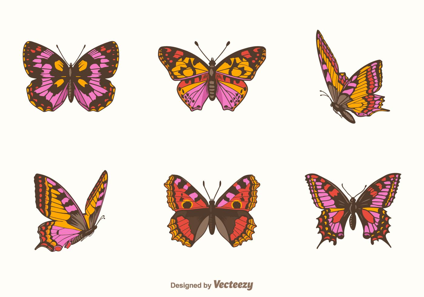 Ensemble De Vecteur Papillon Gratuit - Telecharger Vectoriel tout Jeux Papillon Gratuits Ligne
