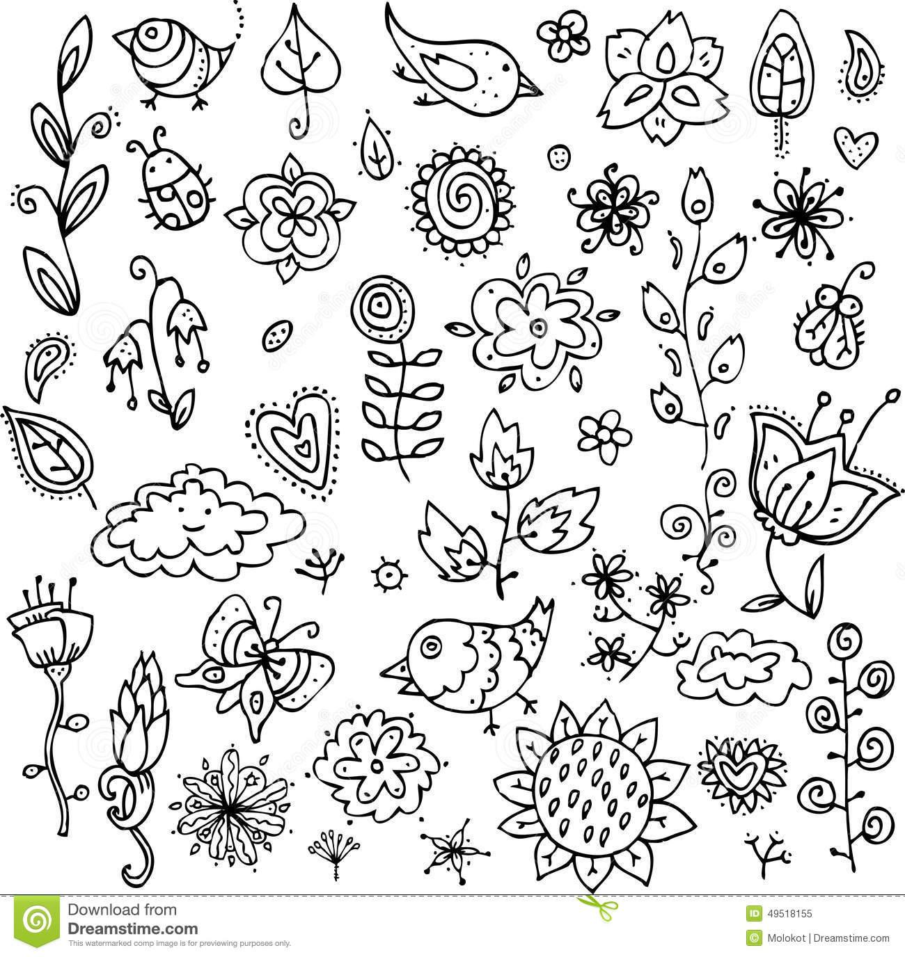 Ensemble D'objets De Découpe Des Oiseaux, Des Fleurs, Des concernant Modèle Oiseau À Découper