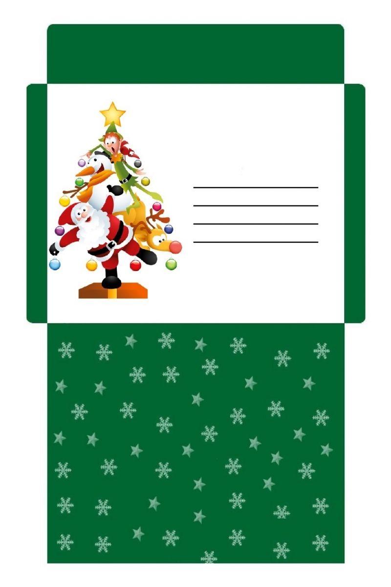 Enveloppe De Noël Personnalisée Et Colorée À Imprimer dedans Décorations De Noel À Imprimer