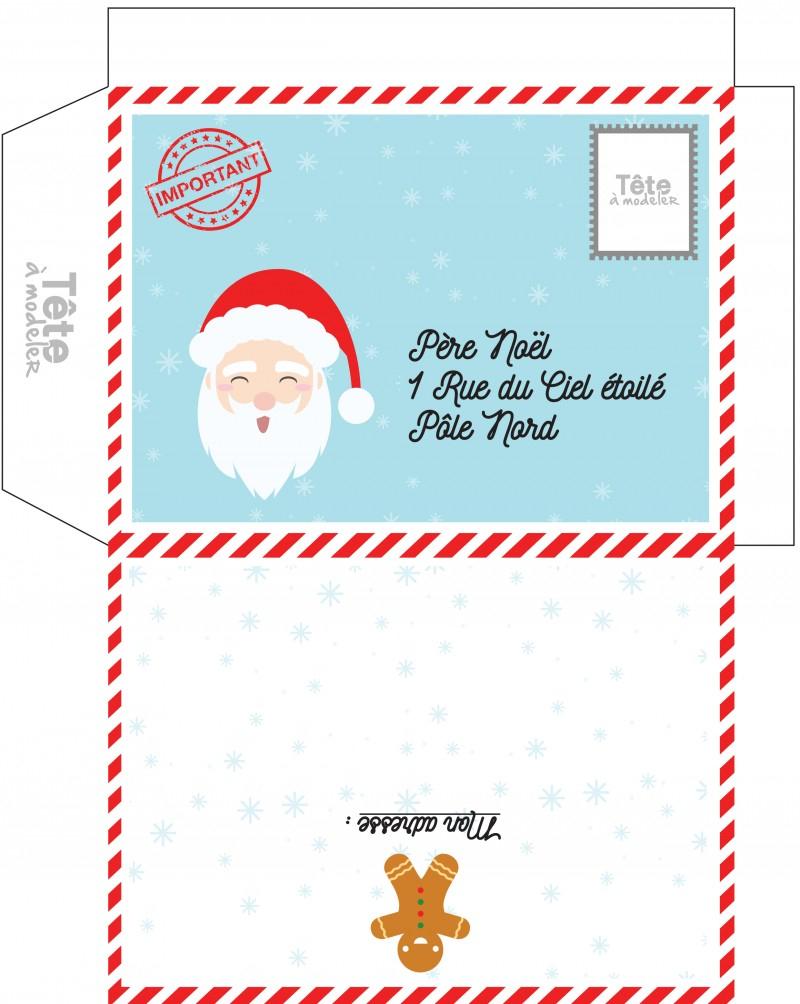 Enveloppes De Noël, Des Enveloppes De Noel A Imprimer - Noel destiné Pere Noel A Decouper