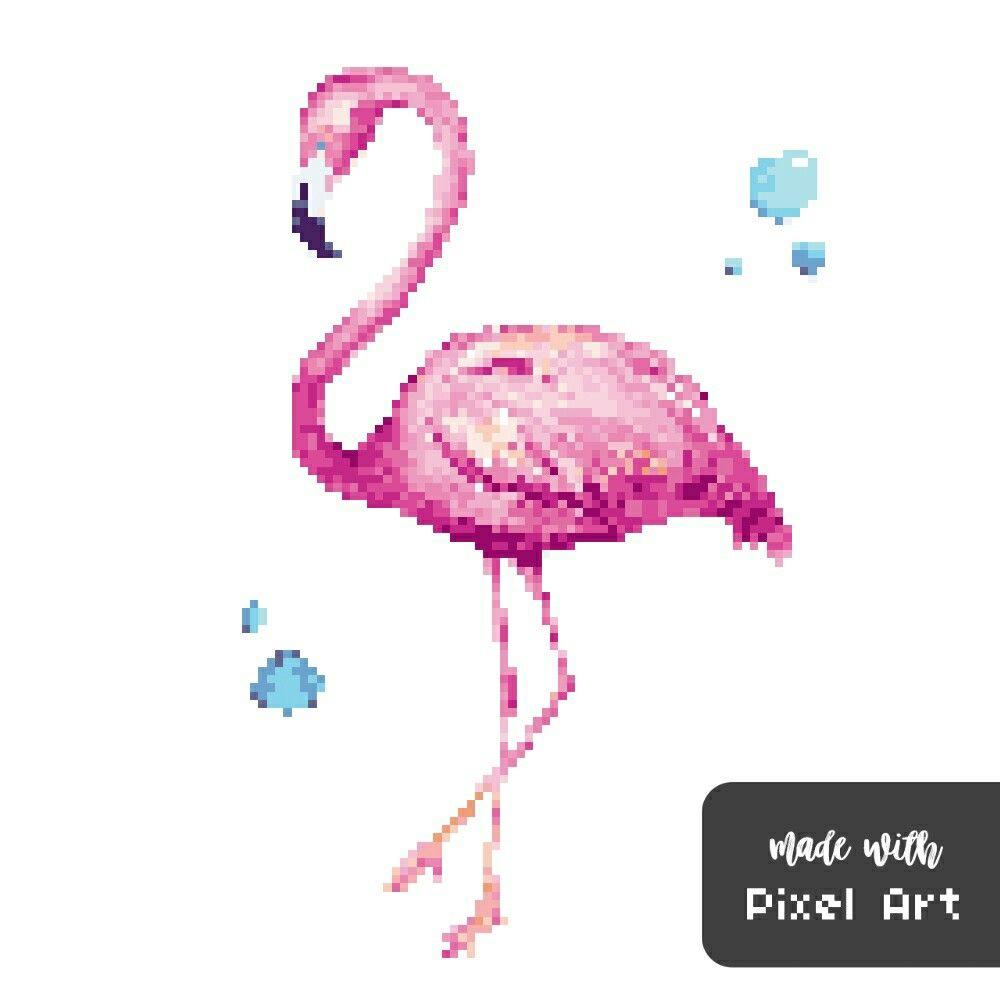 Épinglé Par Moi Queen Sur Pixel Art   Pixel Art, Flamant à Pixel Art Flamant Rose