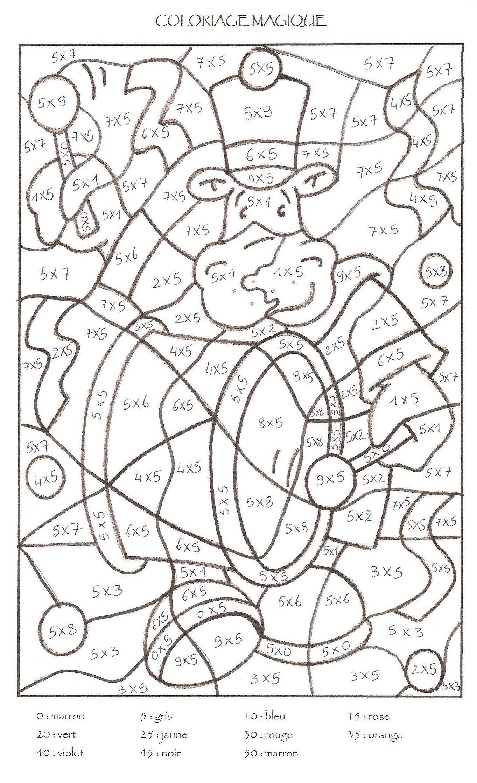 Épinglé Sur Coloriage Magique avec Coloriage Magique Cp Calcul