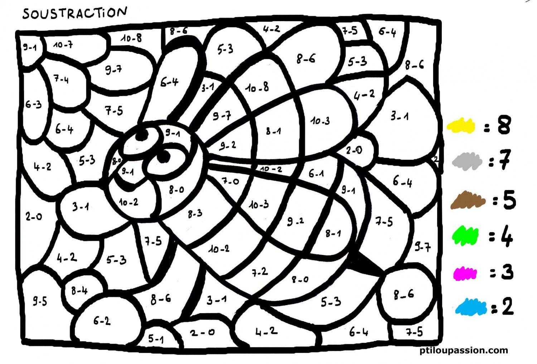 Épinglé Sur Fiches Math concernant Coloriage Magique Gs Cp