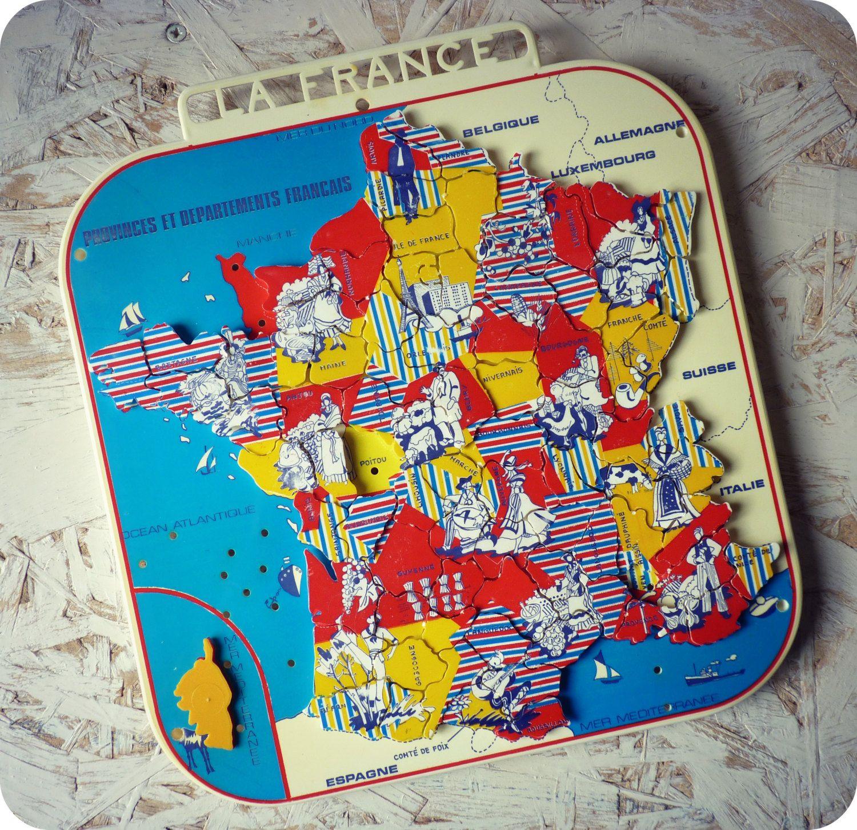 Épinglé Sur Jeu De Société Vintage concernant Jeu Geographie France