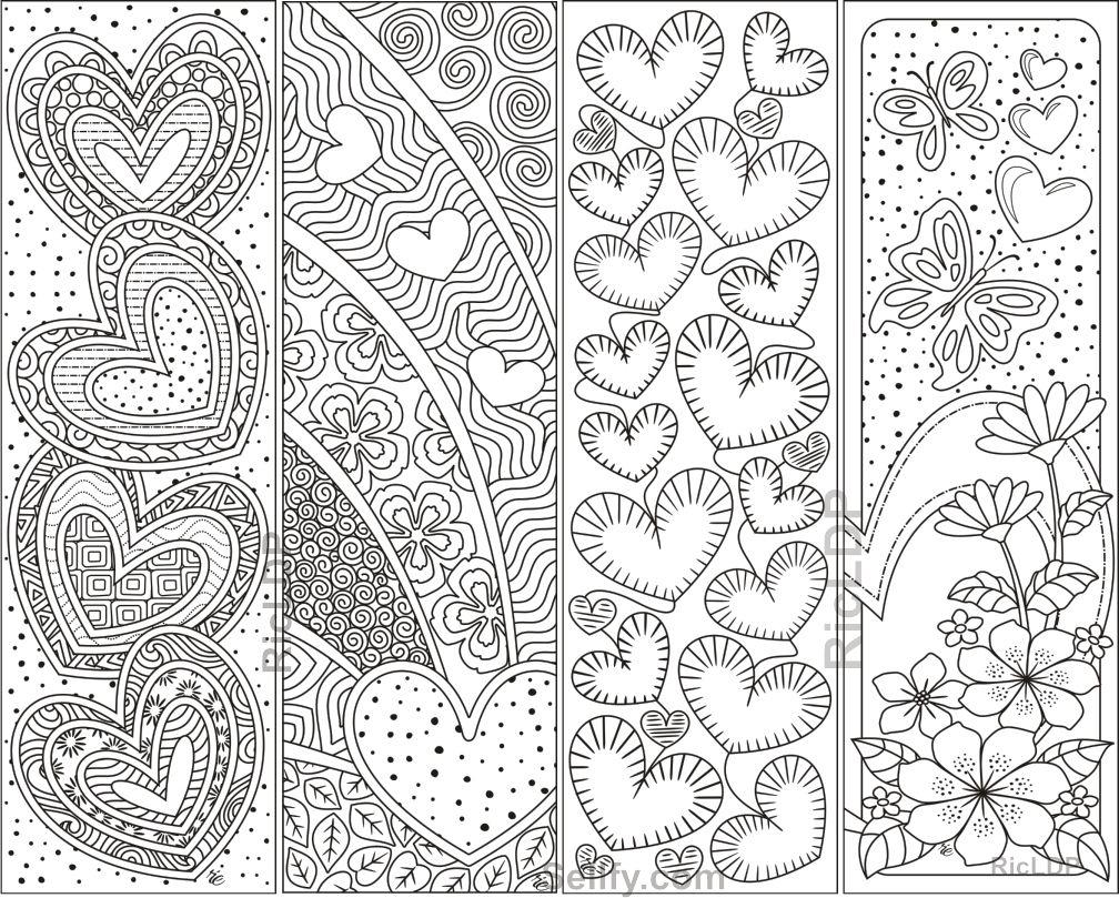 Épinglé Sur Marque Page Art Therapie destiné Marque Page À Colorier