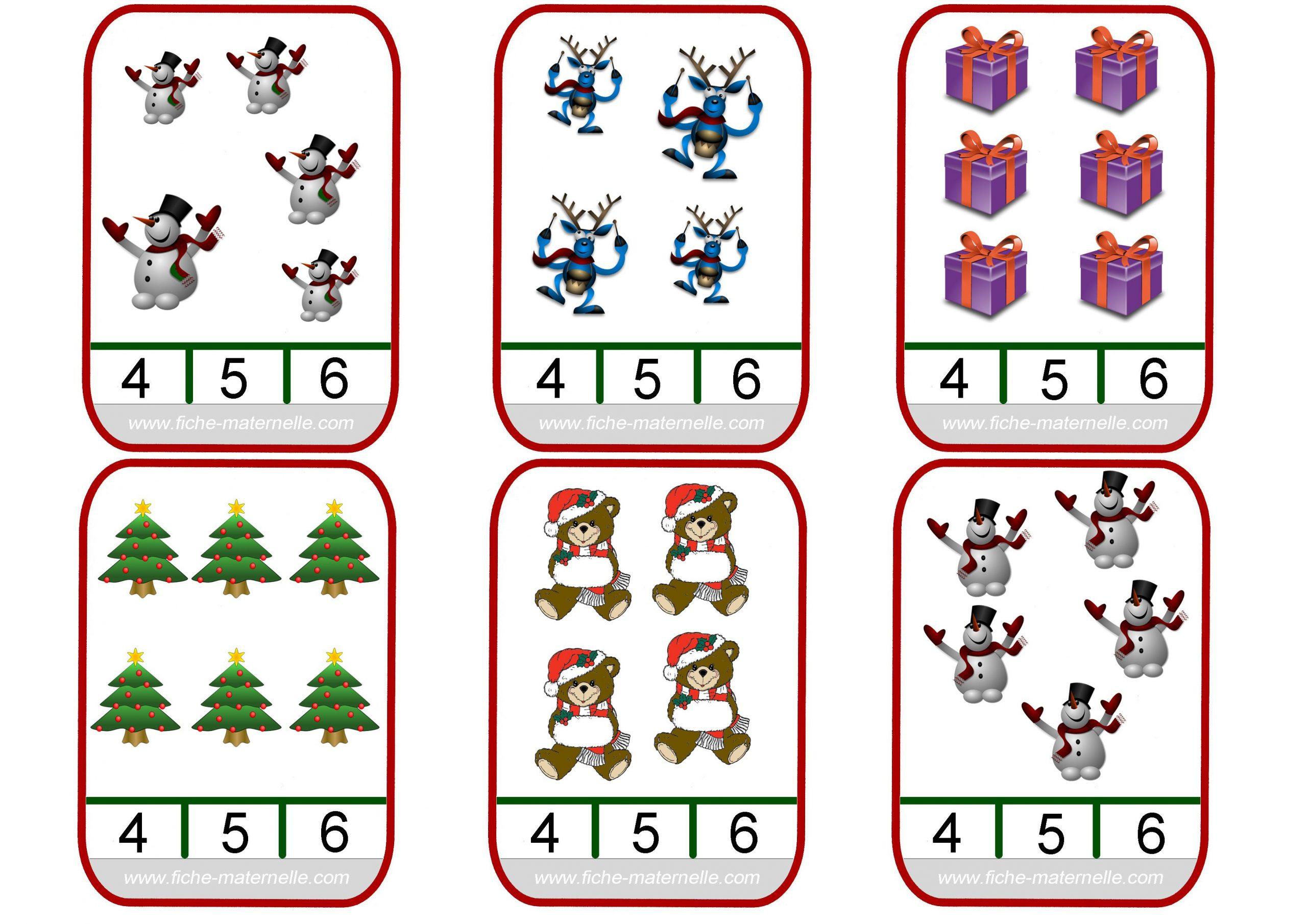 Épinglé Sur Matematika - Kártyák intérieur Jeu Noel Maternelle