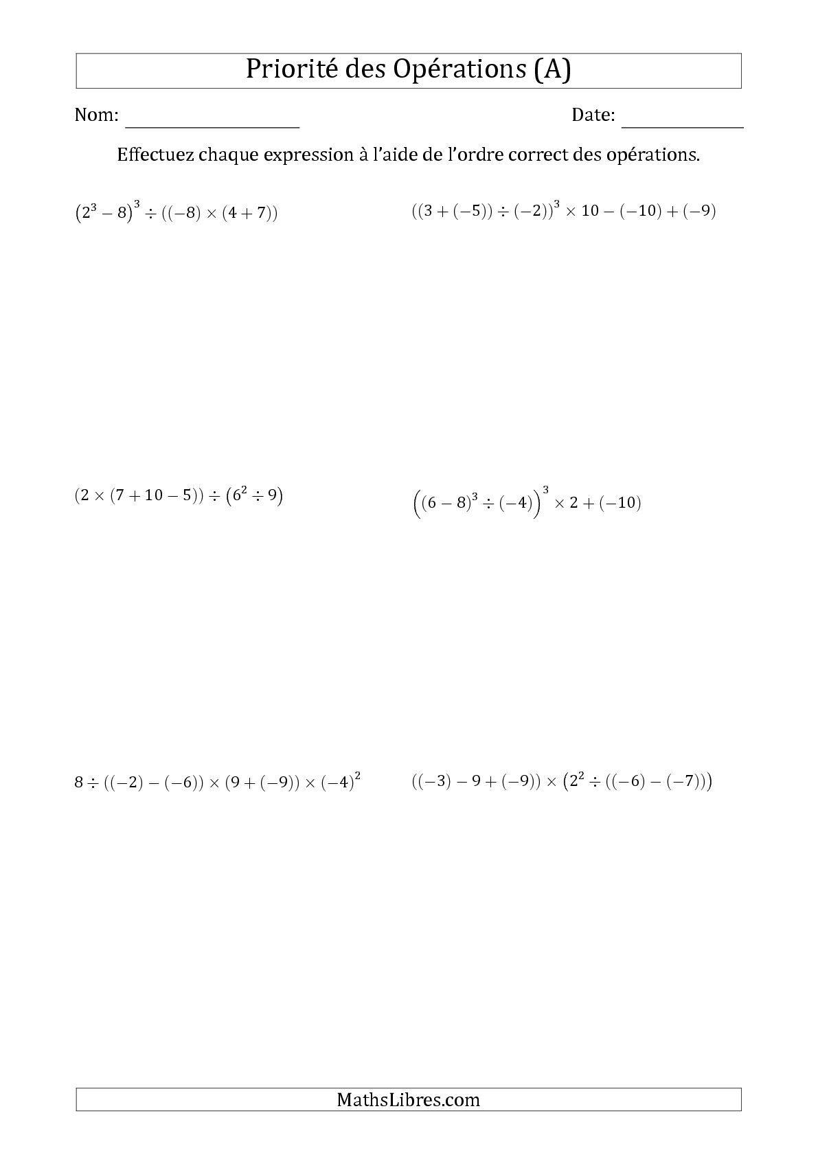 Épinglé Sur Mathématique serapportantà Exercice De Math Sur Les Puissances