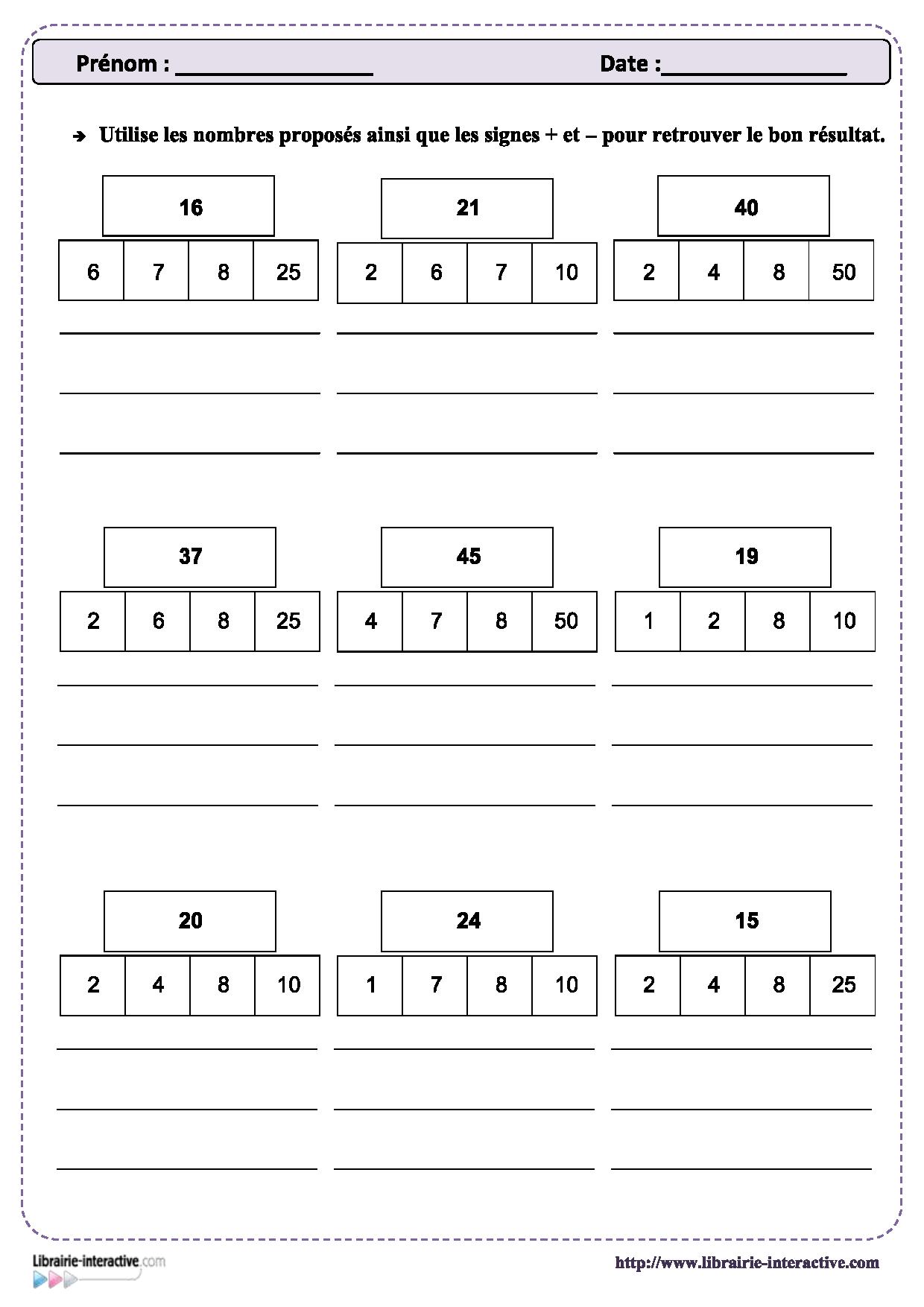 Épinglé Sur Mathématiques C2-C3 concernant Jeux Mathématiques Cm2 À Imprimer