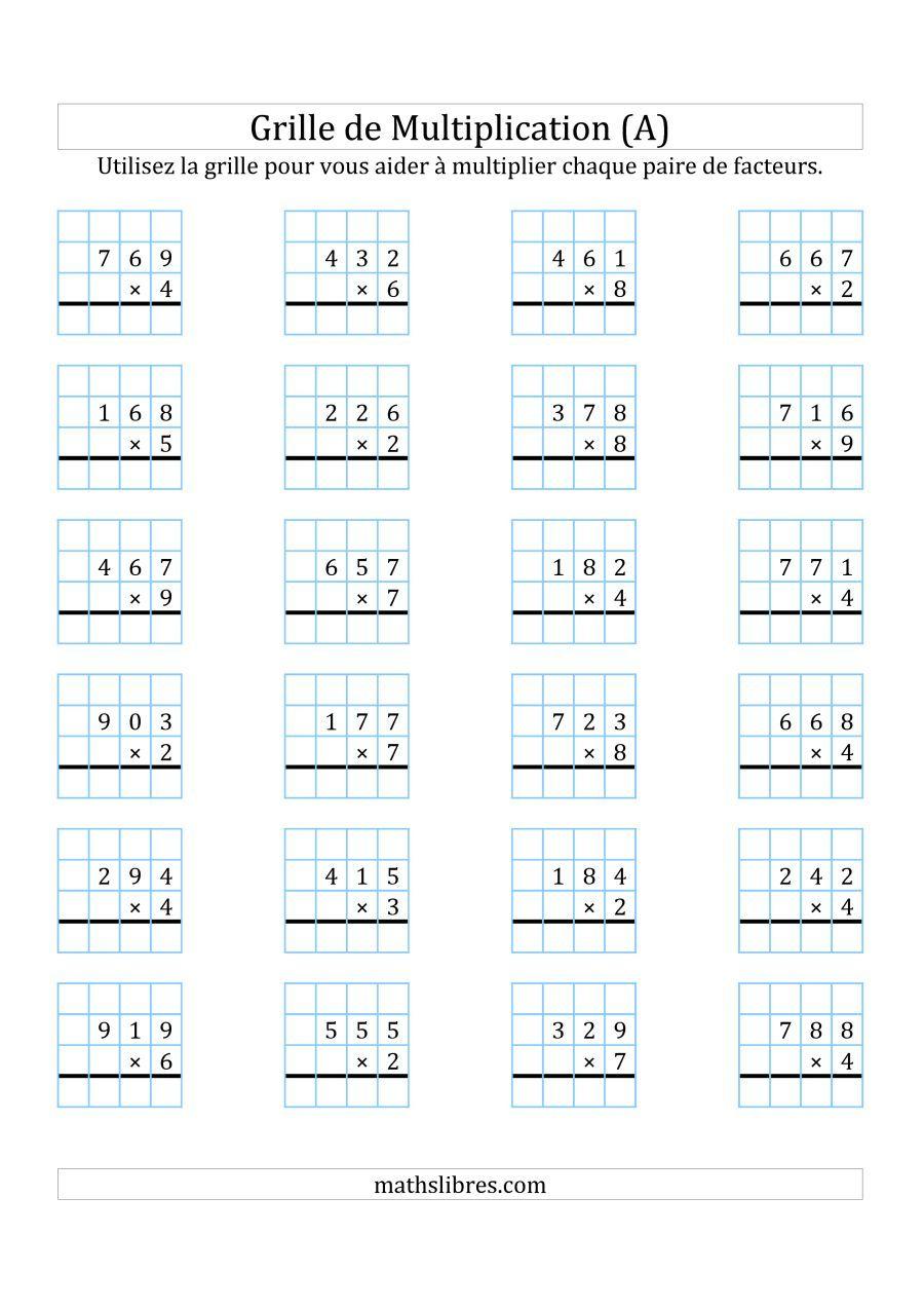 Épinglé Sur Montessori avec Exercices Maths Ce2 À Imprimer