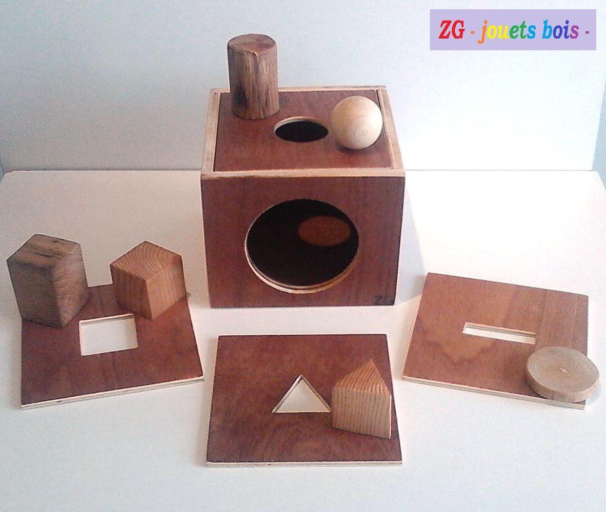 Épinglé Sur Montessori tout Boite À Forme Montessori