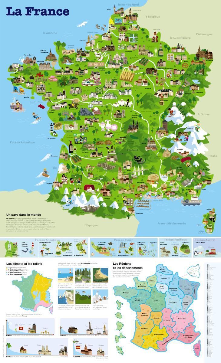 Épinglé Sur Travel dedans Carte De France Dom Tom