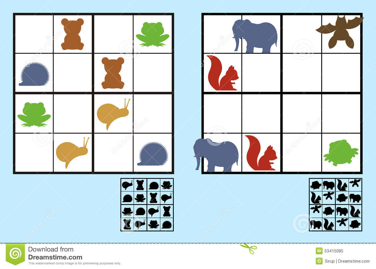 Er Est Worksheet Kg | Printable Worksheets And Activities intérieur Puzzle Facile Gratuit