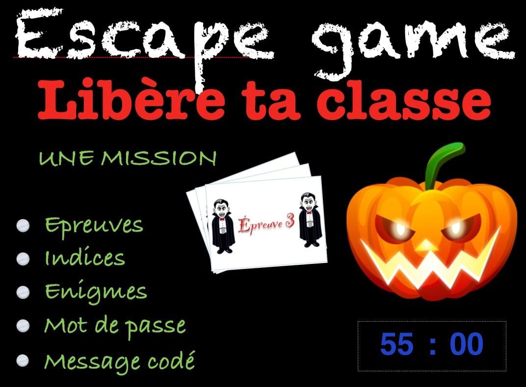Escape Game Halloween Cm2 Avant Les Vacances - Profissime intérieur Jeux Pour Cm2