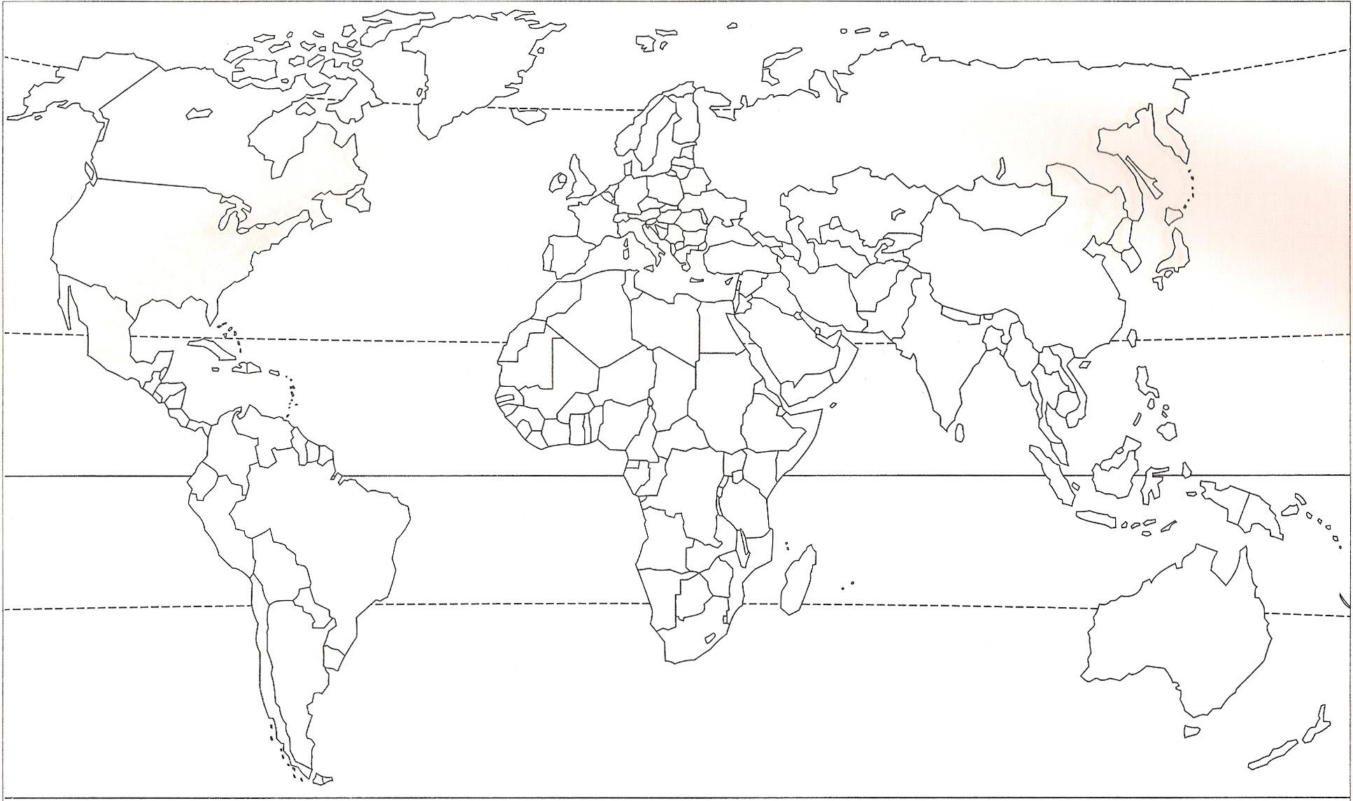 Espacoluzdiamantina: 25 Nouveau Carte Du Monde Politique Vierge avec Carte Vierge À Imprimer