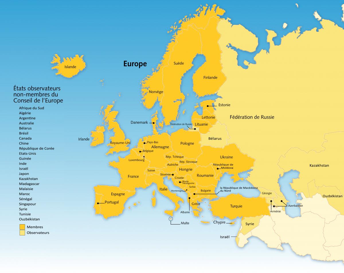 Etats Membres Et Observateurs - Pharmacopée Européenne à Pays Membre De L Europe