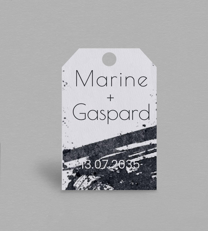 Etiquette Boite À Cadeaux Design Pollock concernant Boite À Personnaliser