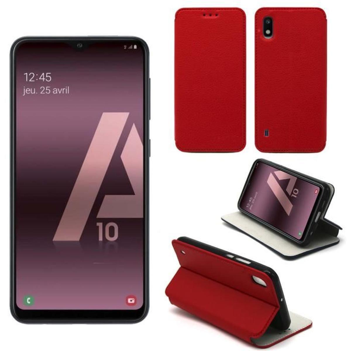 Etui Coque Samsung Galaxy A10 Rouge - Housse Pochette serapportantà A10 Jeux Gratuit