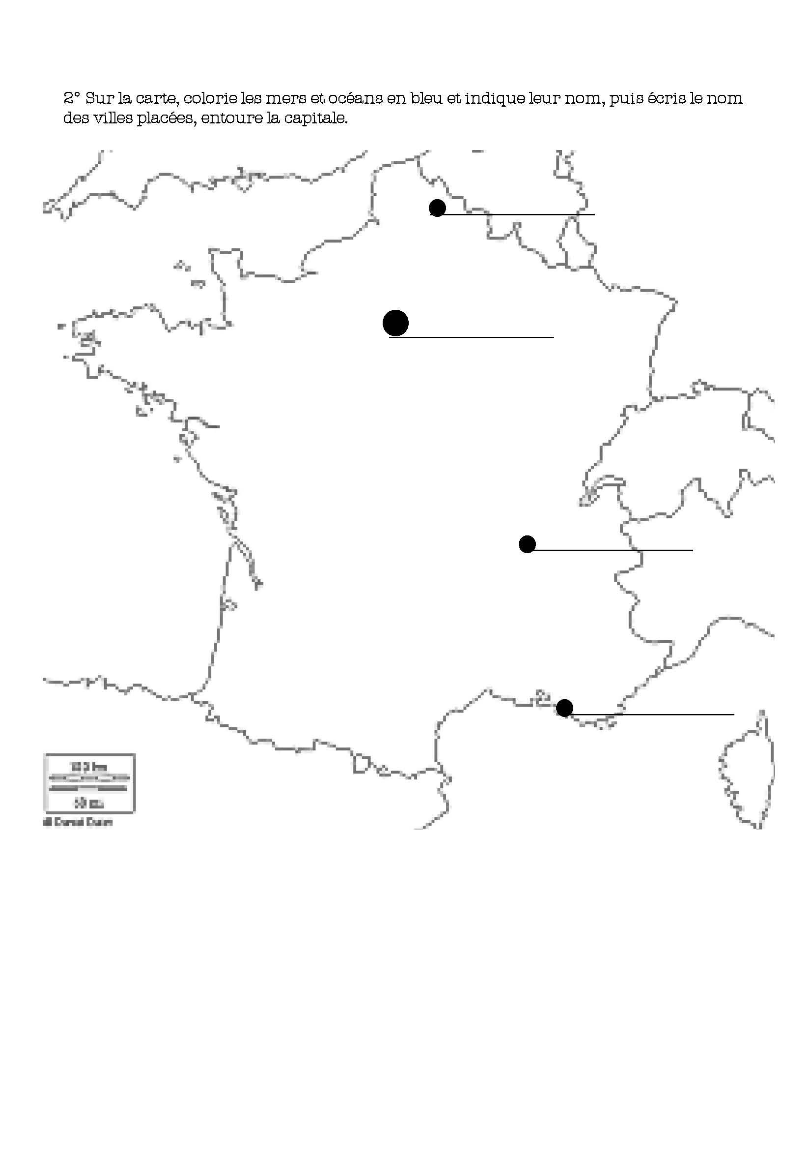 Évaluation Cartes Et Légendes-Ce1 - La Classe De Bertaga pour Carte De France Ce1