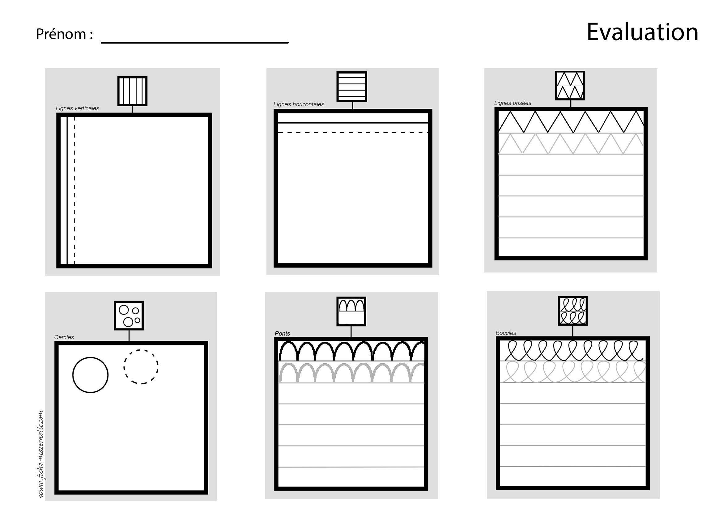 Evaluation En Maternelle | Évaluation Diagnostique serapportantà Évaluation Graphisme Ms