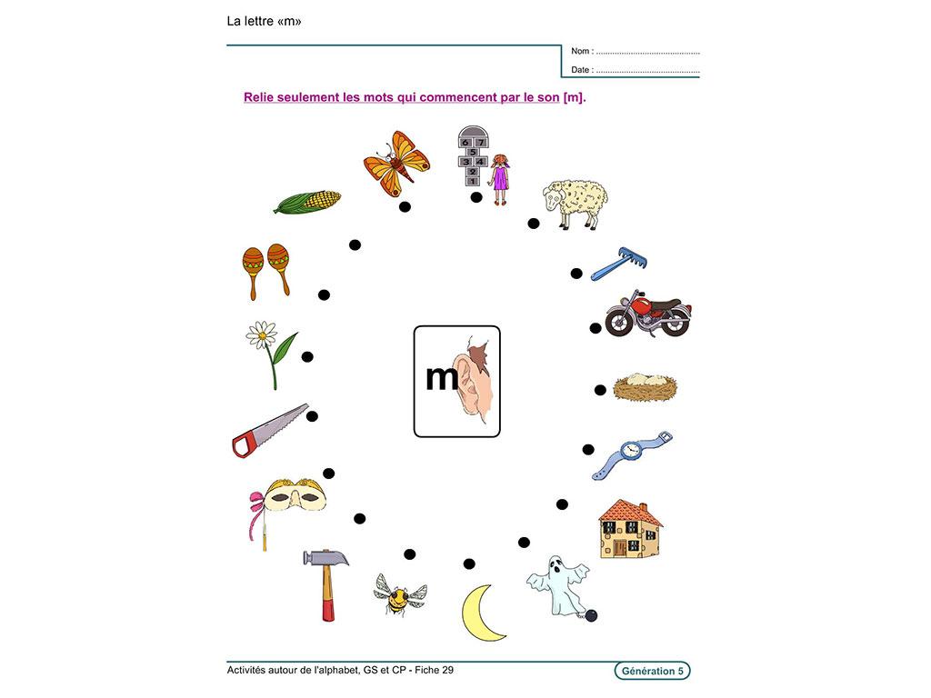 Evolu Fiches : Activités Autour De L'alphabet concernant Exercice D Alphabet En Maternelle