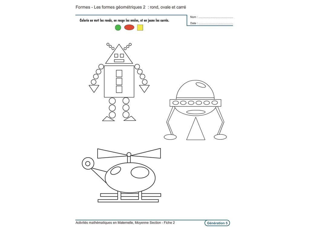 Evolu Fiches - Activités Mathématiques En Moyenne Section pour Fiche Maternelle Petite Section A Imprimer