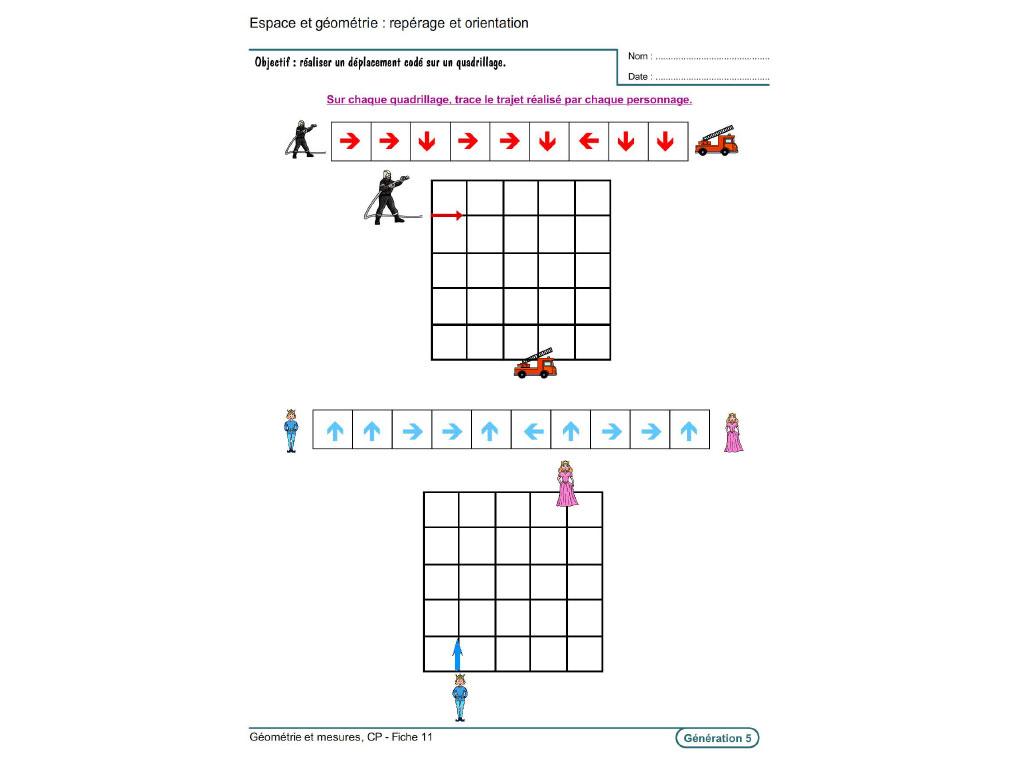 Evolu Fiches - Géométrie Et Mesures Au Cp concernant Reproduction Sur Quadrillage Cm1 A Imprimer