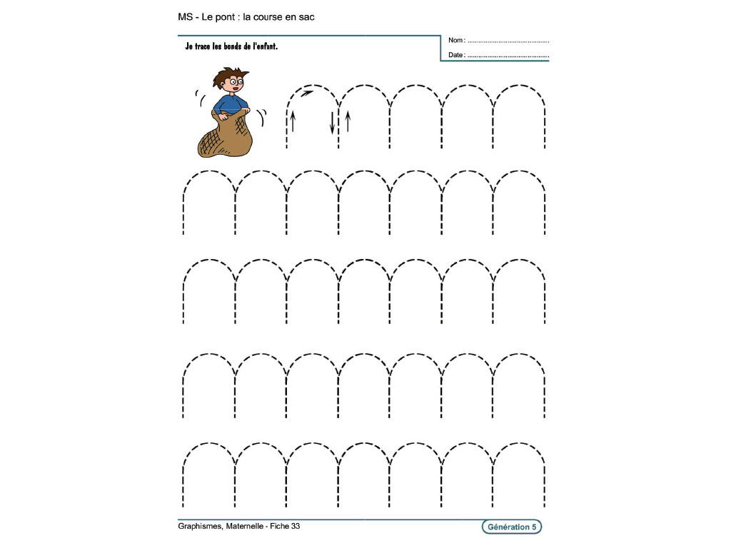 Evolu Fiches - Graphismes En Maternelle pour Exercice Graphisme Moyenne Section
