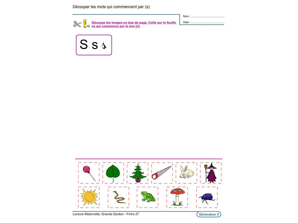 Evolu Fiches - Lecture En Maternelle Grande Section intérieur Exercice De Lecture Maternelle Grande Section