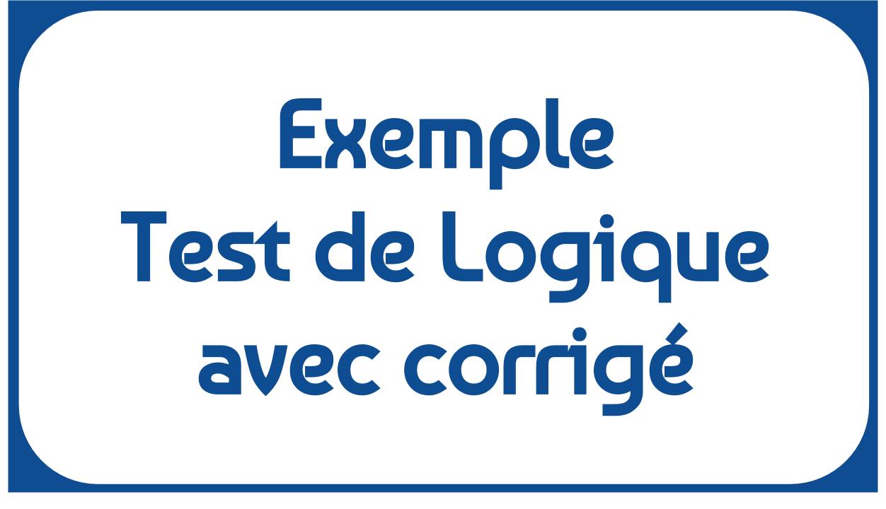 Exemple De Test De Logique Avec Corrigé Pdf - Tests Et Qcm avec Exercice De Logique Gratuit