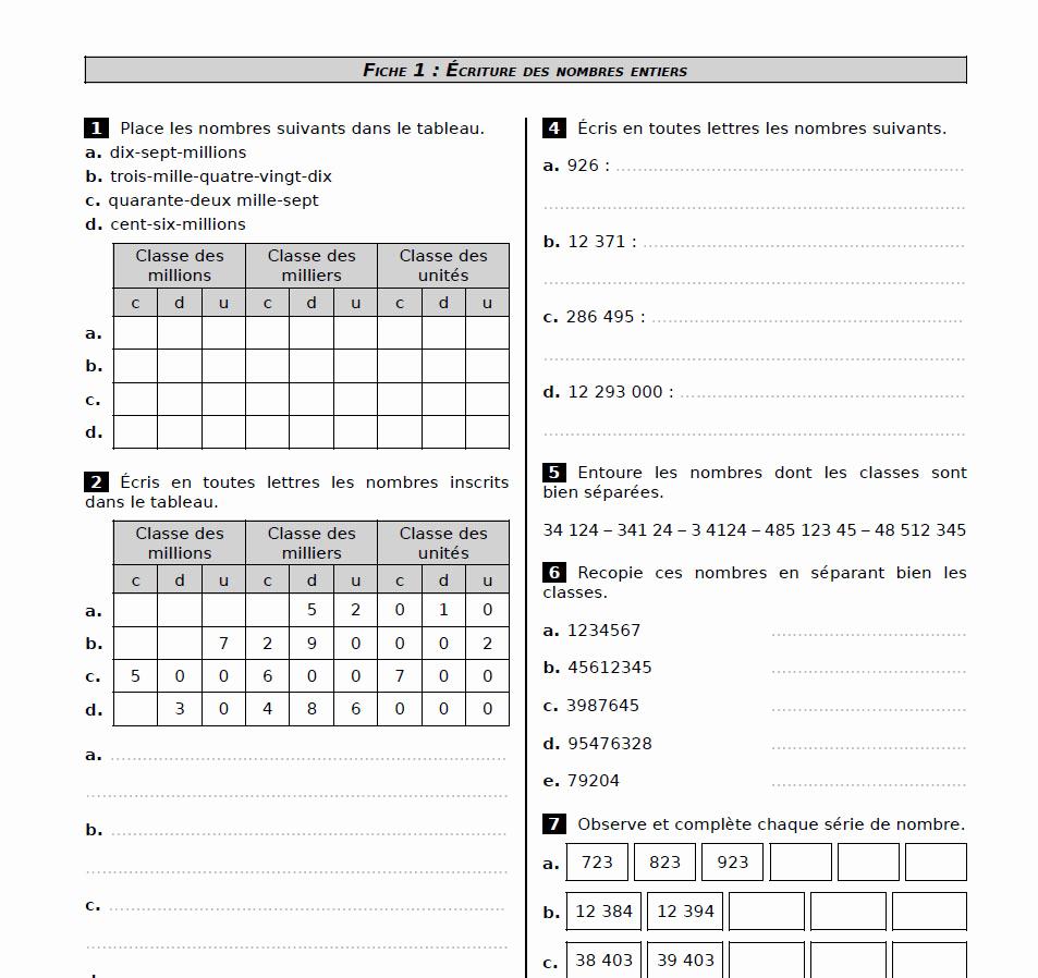 Exercice Cm2 concernant Sudoku Cm2 À Imprimer