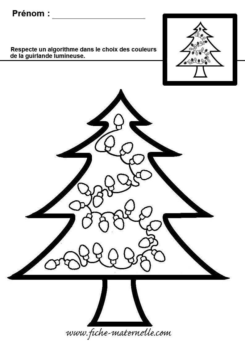 Exercice De Maths En Maternelle Sur Le Thème De Noël : Ms Et Gs concernant Noel Maternelle Grande Section